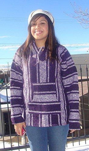 New Baja Hoodie Original Mexican Drug Rug 100% Recycled Fibers Jacket (Cheap Mexican Ponchos)