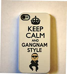(301wi4) White Keep Calm and Gangnam Style For HTC One M7 Case Cover