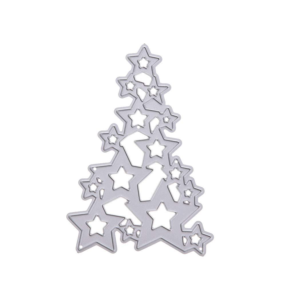 Fogun Christmas Tree Cutting Dies Stencil DIY Scrapbooking Embossing Paper Card Decor