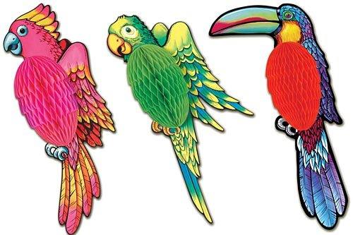 Tissue Exotic Birds (asstd designs) Party Accessory  (1 count) (1/Pkg)