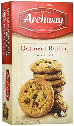 - Archway  Classic Soft Oatmeal Raisin Cookies, 9.25 Ounce