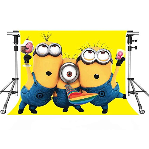 MEETS 7x5ft Minions Backdrop Yellow Cartoon Photography Background Themed Party Photo Booth YouTube Backdrop GYMT201 -