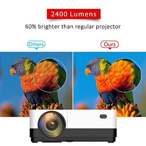 2018 New Home Projectors Theater Lcd 1080p Hd Multimedia: Wsky 2018 Upgraded 2500 Lumens LCD LED Portable Home