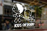25cm Kids on board childrens baby girls Vinyl Stickers Funny Decals Bumper Car Auto Computer Laptop Wall Window Glass Skateboard Snowboard