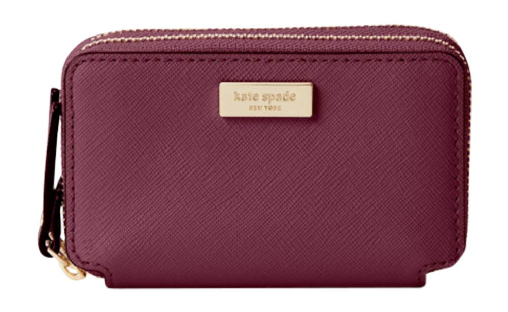 Kate Spade Laurel Way Rosie Double Zip Wallet Card Case Coin Purse PLUM