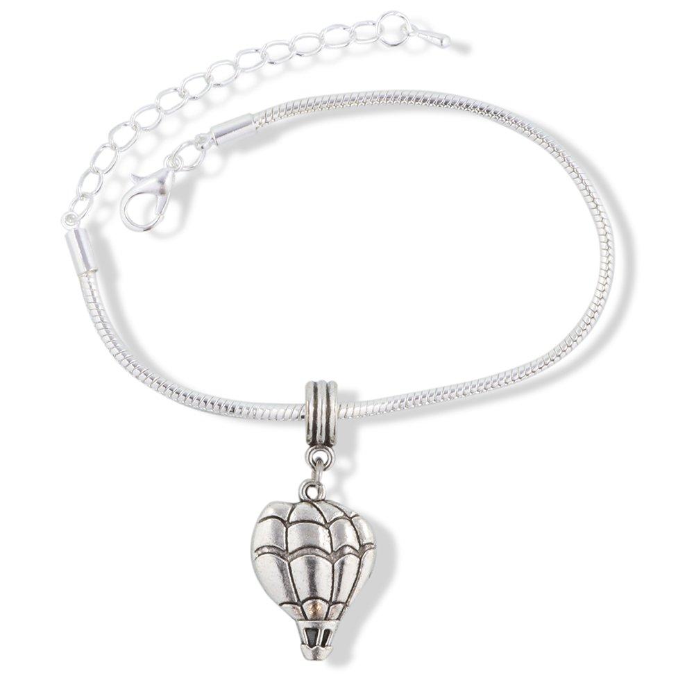 EPJ Hot Air Balloon Snake Chain Charm Bracelet B07CJ2LD8D_US