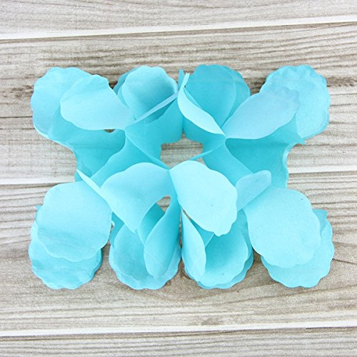 ZehnPro(TM) 1PCS Colorful Four Leaf Clover Paper Garlands For Home Party Wedding/ Baby Shower /Kids Birthday Party Festival Decoration[ Tiffany Blue - Tiff Co