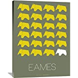 "Naxart Studio ""Eames Yellow Elephant Poster 2"" Giclee on canvas, 30"" by 1.5"" by 40"""
