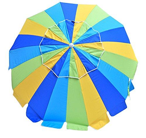 (Rio Brands Beach Umbrella with Integrated Sand Anchor)