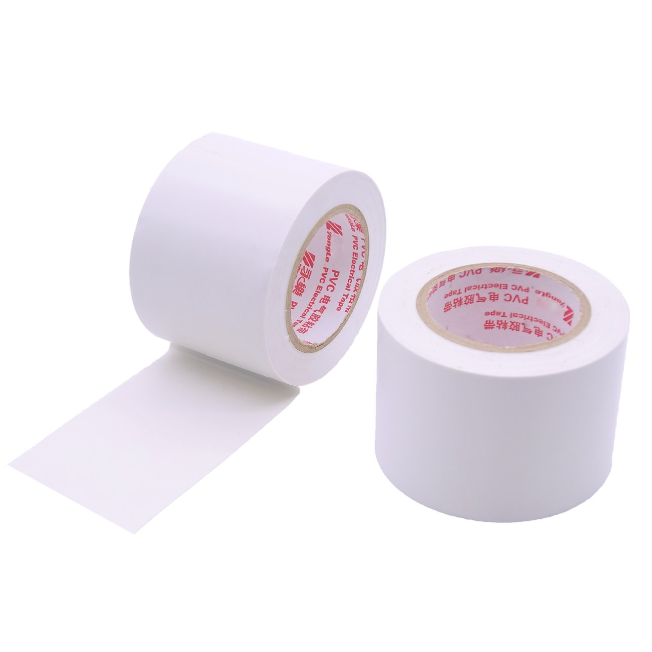 10 Rolls White PVC Electrical Insulation Tapes-Maveek High End Industrial Grade