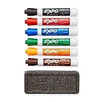 EXPO 80556 Juego de borrado en seco de bajo olor, punta de cincel, colores surtidos, 7 piezas