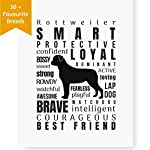 Dog Decor Rottweiler Wall Art - Quote Print (8.5x11 Unframed) | Pet Memorial Gifts | Dog Mom Gift | New Puppy Keepsake | Original Rottweiler Gifts for Dog Lovers 6