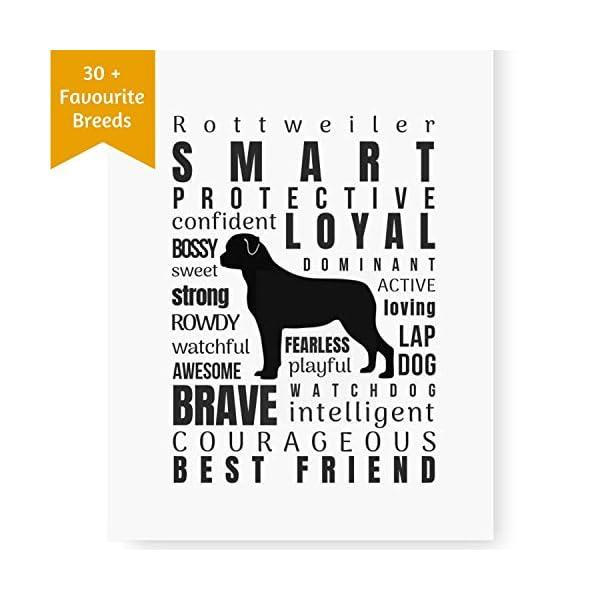 Dog Decor Rottweiler Wall Art - Quote Print (8.5x11 Unframed) | Pet Memorial Gifts | Dog Mom Gift | New Puppy Keepsake | Original Rottweiler Gifts for Dog Lovers 1