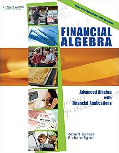 [0538449675] [9780538449670] Financial Algebra, 1st Edition-Hardcover