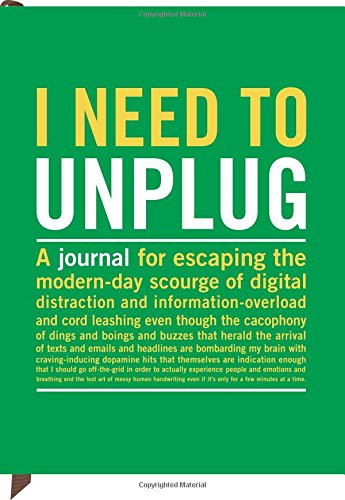 Knock Knock Inner Truth Journal, Need to Unplug is perfect for best stress relief methods