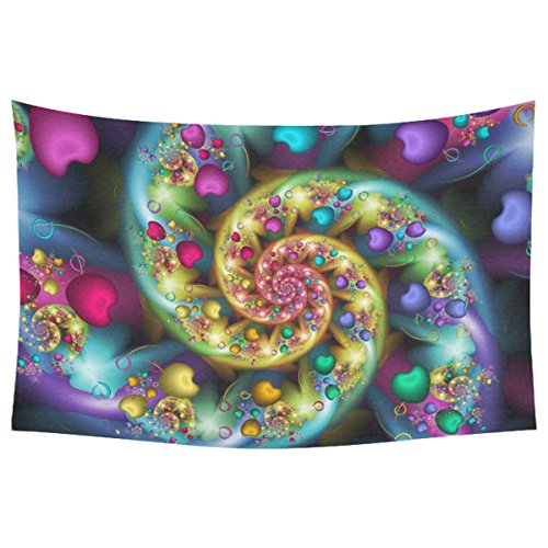 Tribal Trippy Home Decor Tapestries Wall Art, Rainbow