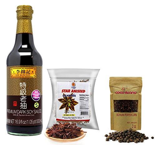 Lee Kum Kee Premium Dark, Soy Sauce Peppercorn, Star Anise