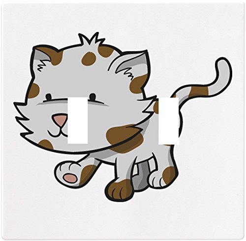 (Spotted Kitten Wallplate Decorative Light Switch Plate Cover (2 Gang - Double...)