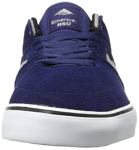 Emerica the Hsu Low Vulc, Zapatillas de Skateboarding para Hombre, Negro azul/gris