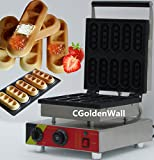 CGOLDENWALL NP-513 10pcs Commercial Waffle Maker Electric Waffle Machine No-stick Belgian Waffle Baker (Bar shape) 110V/220V CE Certification