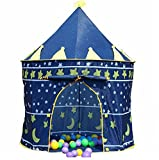 Mallya Kids Blue Knight's Castle Play Tent for Boys-Indoor or Outdoor