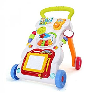 JYSPORT - Carrito de juguete para bebé, multifuncional, para aprender música, velocidad ajustable: Amazon.es: Juguetes y juegos