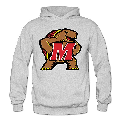 MARC Women's University Of Maryland UMD Testudo Hooded Sweatshirt Ash Size - Gun Top Ray Ban Sunglasses