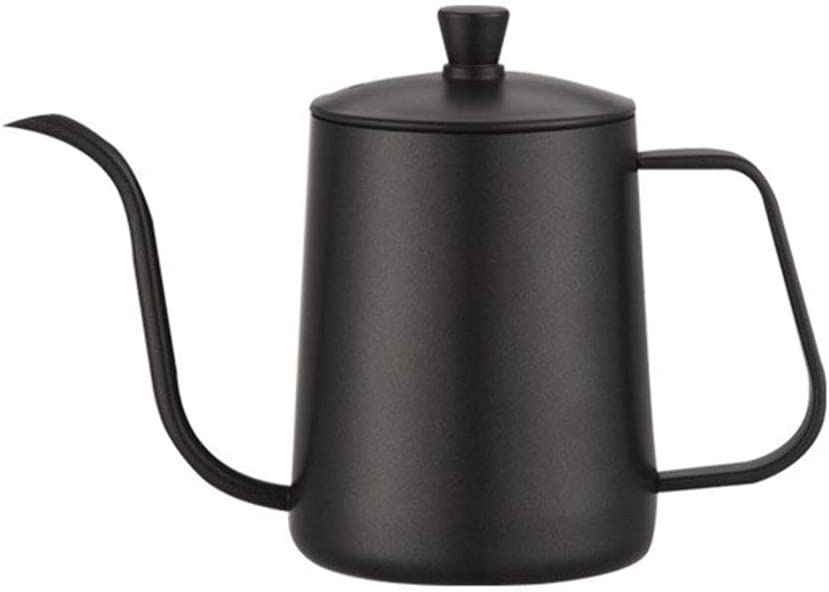 Color : Silver Ueccicou 600 ml Mango de Acero Mango de perforaci/ón de Mano Recta 304 Boca Fina de Acero Inoxidable Boca peque/ña Olla de caf/é