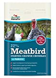Manna Pro 22-Percent Meatbird Starter Grower Crumbles with Probiotics, 8 lb