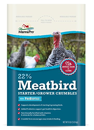Manna-Pro-22-Percent-Meatbird-Starter-Grower-Crumbles-with-Probiotics-8-lb
