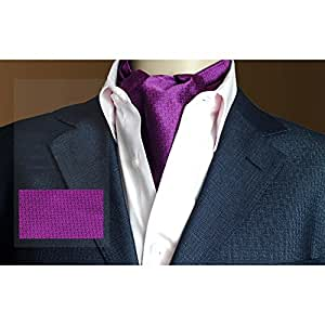 LIANGJUN Elegent Hombres SedaCorbataBufanda Corbata Boda Bufanda Camisa Oficina Ocasiones Formales, 118X16cm, 6 Colores Disponibles ( Color : Purple )