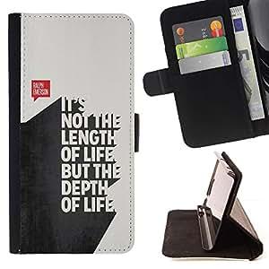 Momo Phone Case / Flip Funda de Cuero Case Cover - Citer le texte 3D Vie Inspiring - LG OPTIMUS L90