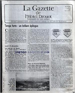 Téléchargez des manuels gratuits pour ipad GAZETTE DE L'HOTEL DROUOT (LA) [No 1] du 02/01/1987 - UNE TOILE DE J.B. MARTIN ET SON ATELIER - F. PAIRE DE CLIPS DE CORSAGE EPOQUE ART DECO PAR HERZ-BELPERRON - BIJOUX DE SUZANNE BELPERRON PDF