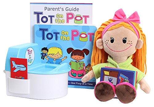 Potty Training with Tot On The Pot - Complete Kit Includes Parent's Guide, Children's Book, Tot Doll, Toy Toilet & Activity Reward Cards | Pediatrician-Recommended | Play-Based Learning (Potty Step Training System)