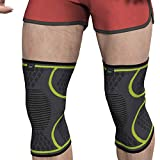 Modvel Knee Brace (1 Pair) - Ultra Flexible, Compression Knee Sleeve for Men and Women, Great for All Athletics, Volleyball, ACL, Stabilizer for Arthritis and Knee Pain Relief, M (MV-111-M-GR)