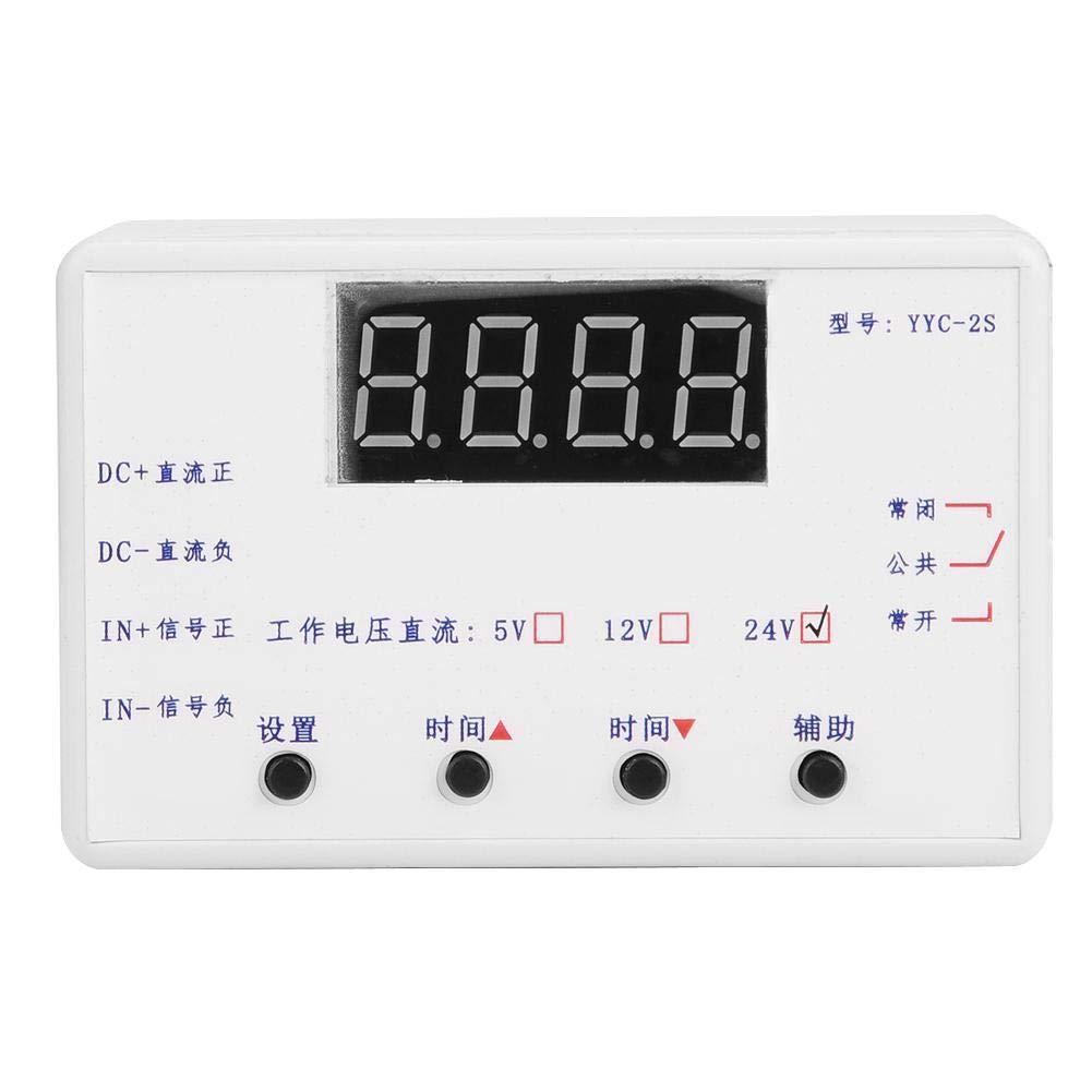 24V Temporizador Rel/é Pantalla LED Ajustable Interruptor de Control de Automatizaci/ón M/ódulo 5V12V 24V Opcional
