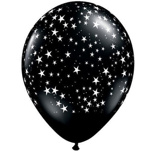 Elizabeth Onyx (Onyx Black Stars-A-Round Qualatex 11 Latex Balloons by Qualatex)