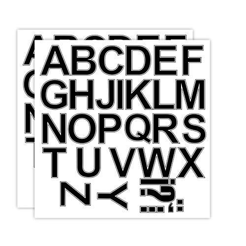 RUSPEPA 3 Inch Letter Transfers for Sport T-Shirt,Black(2 Sheet) ()