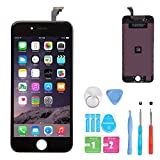 HSX_Z iPhone 6 LCD Screen Replacement Black, Digitizer Display Retina Touch Screen Glass Frame Assembly for iPhone 6 - Black