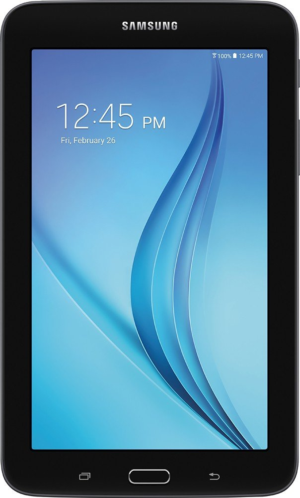 Samsung Newest Galaxy Tab E Lite Flagship Premium 7 inch Tablet PC | Spreadtrum T-Shark Quad-Core | 1GB RAM | 8GB | Bluetooth | WIFI | GPS Enabled | MicroSD Slot | Android 4.4 KitKat OS (Black)