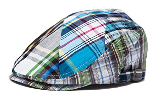 (FashionTS Men's Multi Pattern Patchwork Cotton newsboy colorful IVY Hat by (Blue))