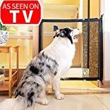 Magic Gate for Dogs - Guard Pet Safety Gate Safety Enclosure - Safe Guard for Pet - Baby Safety Fence - Portable Folding Mesh Gate- for House Indoor Use - As Seen On TV
