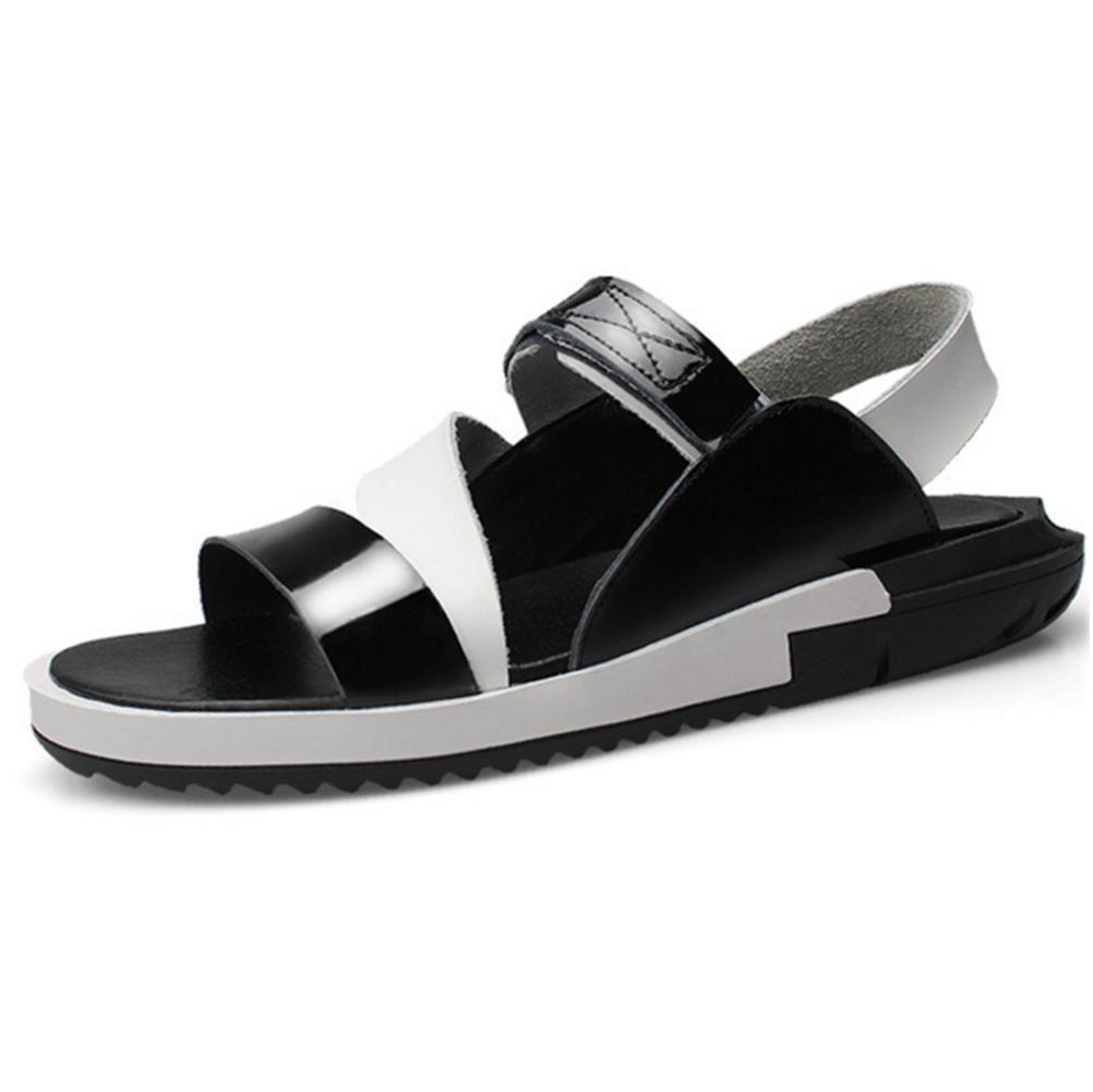 Herren Natürlich Leder Sandalen Zeh Schlüpfen Sport Gehen Offener Zeh Sandalen Waten Schuhe 1 d32535