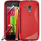 Motorola Moto G 1st Gen 2013 Premium TPU Hydro Gel Case Cover included Screen Protector and Polishing Cloth Capacitive Stylus Pen