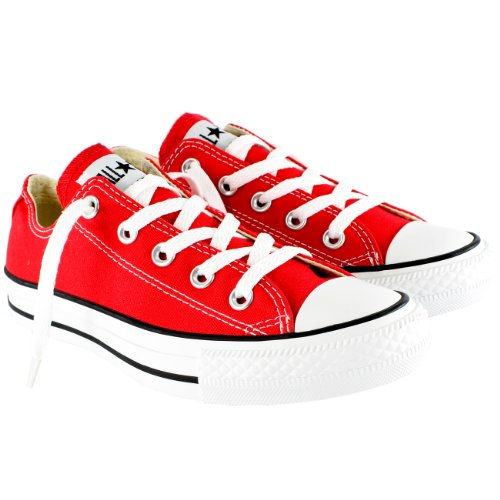 Mens Converse All Star Ox Low Top Chuck Taylor Chucks Lace Up Trainer - Red - (Chuck Taylor Trainer)