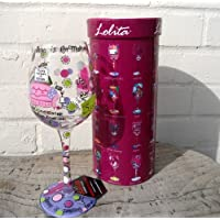 "Hand Painted Lolita Wine Glass ""Mummy's Time Out"" in Gift Box - Super Gift Idea For Any Busy Mum!"