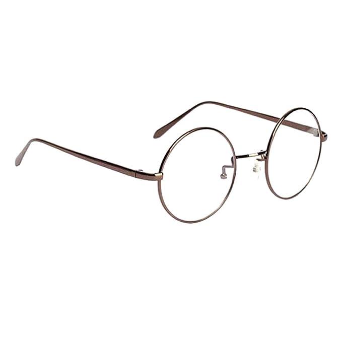 Sharplace Retro Vintage Runde Brille Mit Fensterglas Damen Herren  Brillenfassung 704e4cb044