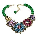 Heidi Daus SWAROVSKI Crystal Bib Drop Floral Necklace ~Glorious Garden