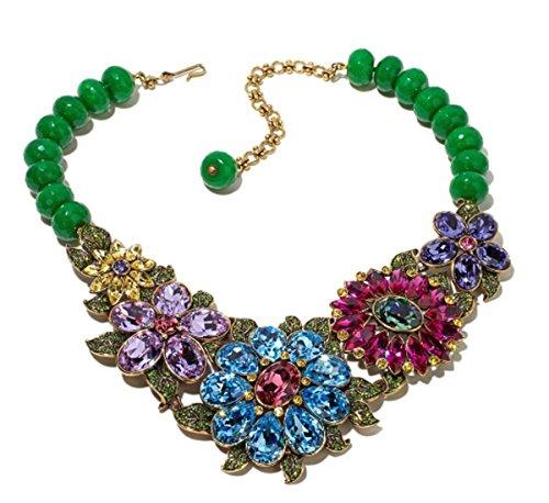 (Heidi Daus SWAROVSKI Crystal Bib Drop Floral Necklace ~Glorious Garden)