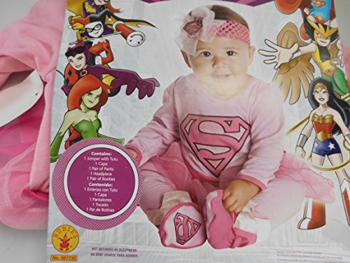 Dc Super Friends Super Girl Pink Baby Costume Size 12-18 months ()